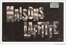 78 MAISONS LAFFITTE lettres alphabet monuments - voyagé 1906