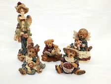 Lot (5) Boyds Bears Bearstone Collection Figurines with Boxes- Momma McBear