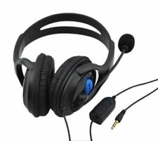 Premium Black Ps4 Headphones Headset Large Style With Mic
