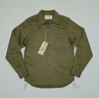 BOB DONG Men's USN Military Long Sleeve Shirts Vintage Army Selvedge Work Tops