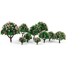 10 Pink Flower Trees Model Train Railroad Diorama Park Scenery HO N Z Scale