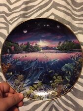 Danbury Mint Search for Harmony  Underwater Paradise Plate 1991 dolphins