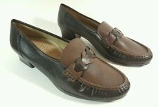 Luftpolster Jenny brown leather Moccasin low heel shoes uk 8G New