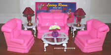 NEW GLORIA DOLL HOUSE FURNITURE NEW LIVING ROOM (9704)