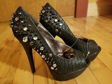 8fe4c91eaf0 New Womens Sexy Punk Gothic Dollhouse Platform Spike Studded Black 5