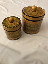Pair Of UNBRANDED Talavera Caniters From Guanajuato