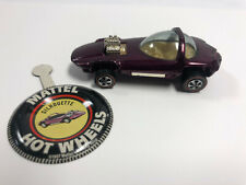 Silhouette 1968 Hot Wheels REDLINE (Majenta paint / White Interior) with Button