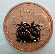 1867-1992 CANADA 1 CENT 125th CONFEDERATION ANNIVERSARY PROOF-LIKE PENNY COIN