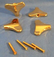 4 NEW GOLD Y SHAPED GUITAR MACHINE HEAD BUTTONS FOR BASS GUITAR