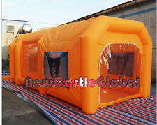custom made portable giant Oxford cloth inflatable spray booth paint enclosure