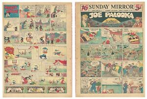 MICKEY MOUSE & DONALD DUCK LARGE SUNDAY PAGE - Nov 14, 1937 - RARE GOLDEN AGE