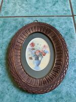 Original Fine Oval Frame Antique/vintage Still Life Oil Painting Picture WOW