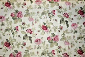 ANASTASIA HISTORICAL REPRODUCTION SMALL ROSES ON TAN 100% COTTON FABRIC