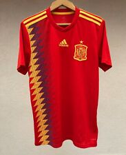 Spain National Team 2018 Home Football Soccer Shirt Jersey Camiseta Adidas Rare