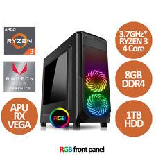AMD Ryzen 3 2200G Quad Core 3.7GHz* 8GB 1TB, RX VEGA - PC Base Unit
