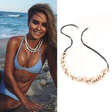 Pretty Boho Velvet Shell Pendant Chain Choker Rope Tassel Necklace Beach Jewelry