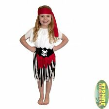 Pirate Synthetic Complete Outfit Fancy Dresses for Girls