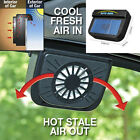 Solar Powered Car Window Windshield Auto Air Vent Cooling Fan Cooler Radiator zg