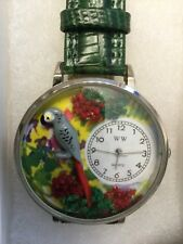 AFRICAN GREY PARROT WATCH BRAND NEW LEATHER BAND LOVE PARROTS
