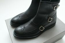 1100$ Alexander McQueen Leather Derby Shoes Black Size 40EU/8US Made In Italy