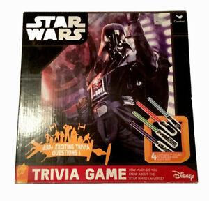 Star Wars Trivia Game Lightsaber Puzzles 650 Questions Disney-See Details