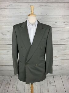 NEW Vintage Canali Green Double Breasted Sport Coat Mens 40R 100% Wool