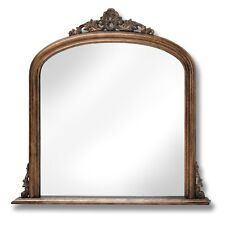 ANTIQUE GOLD OVER MANTEL MIRROR - A DECORATIVE ITEM TO HANG ON THE WALL.