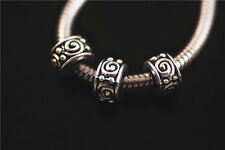 30ps Tibetan Silver Charms Spacer Beads Fits European Bracelet Beads 5.5x8mm