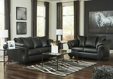 Ashley Furniture Betrillo Black Sofa and Loveseat Living Room Set