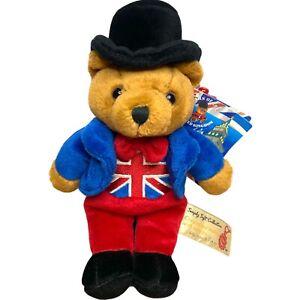 Keel Toys Simply Soft Collection John Bull Bear Plush Toy England Souvenir 22cm
