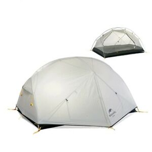 20D Nylon Fabic Double Layer 2 Persons Camping Tent Waterproof Tent for 3 Season
