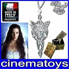 LORD OF THE RINGS ARWEN EVENSTAR PENDANT OFFICIAL LOTR WITH CERTIFICATE COLGANTE