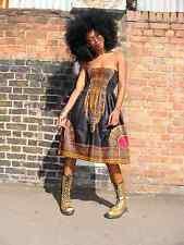 AFRICAN PRINT DASHIKI DIVA SUN DRESS S/M by DORIS & DORIS