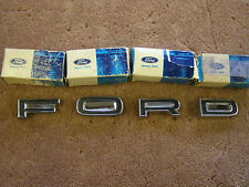 NOS OEM Ford 1972 Galaxie 500 Rear Bumper Letters Emblems Ornaments