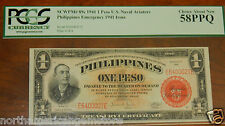 PCGS1941 Philippines 1 Peso US Naval Aviator's Emergency Issue(High Grade LOW#)