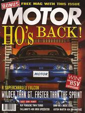 Motor Nov 93 Falcon GT Supercharged M5 E500 MX-5 RUF 911 850 Turbo