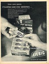 PUBLICITE ADVERTISING  1966   LIEBIG  pot au feu tablettes
