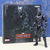 "6"" S.H.Figuarts Black Panther Figure Captain America: Civil War SHF Toy in Box"