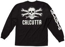 NEW Calcutta Fishing Original Logo Long Sleeve T-Shirt Black S CBS-LS