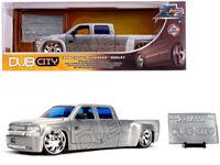 1999 Chevy Silverado Dooley Diecast 1:24 Dub City Jada  8 inch Brushed Nickel