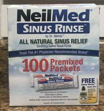 "NeilMed Sinus Rinse Kit 100 Premixed Packets ""NEW""  FREE SHIPPING"