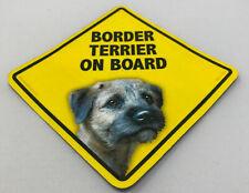 Border Terrier Dog On Board Magnet Laminated Car Pet Magnet New 6x6