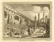 Cimetière / Cemetery of Human Sacrifices, Tenochtitlan-Mexico City 1754 print