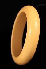VTB Butterscotch Yellow Bakelite Chunky Bangle Estate Bracelet Simichrome Tested