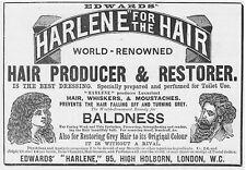 HARLENE Hair Producer & Restorer Victorian Advertisement1896