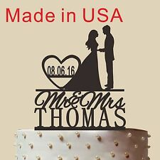Personalized Silhouette Wedding Cake topper,Acrylic,Wedding Gift,Made in USA 5''