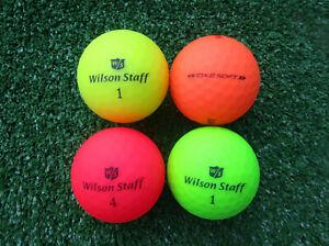 50  bunte Wilson DX2  Soft  Golfbälle  AAAA bis AAA Matt