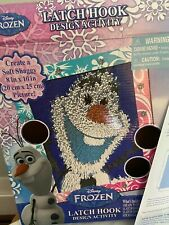 New listing Disney'S Frozen Child's Latch Hook Design Kit with hook and yarn