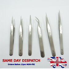 Stainless Steel Precision Tip Tweezers VETUS ST Series Straight Curved Extension