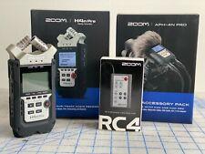 Zoom H4Npro Multi Track Digital Recorder + accessories